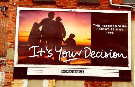 Werbung für das irische Friedensabkommen