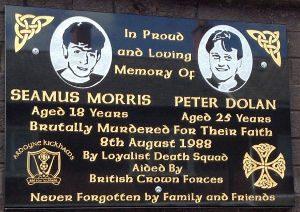 Gedenken an Seamus Morris und Peter Dolan