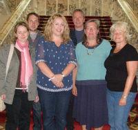 Mit Tierna Cunningham im Belfaster Rathaus
