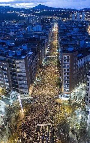 Demontration in Bilbao am 14.1.2017