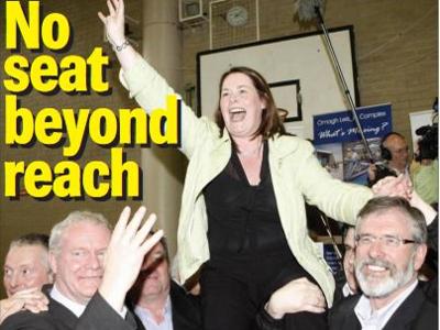 Michelle Gildernew von SF ist Wahlsiegerin im nordirischen Fermanagh-South Tyrone
