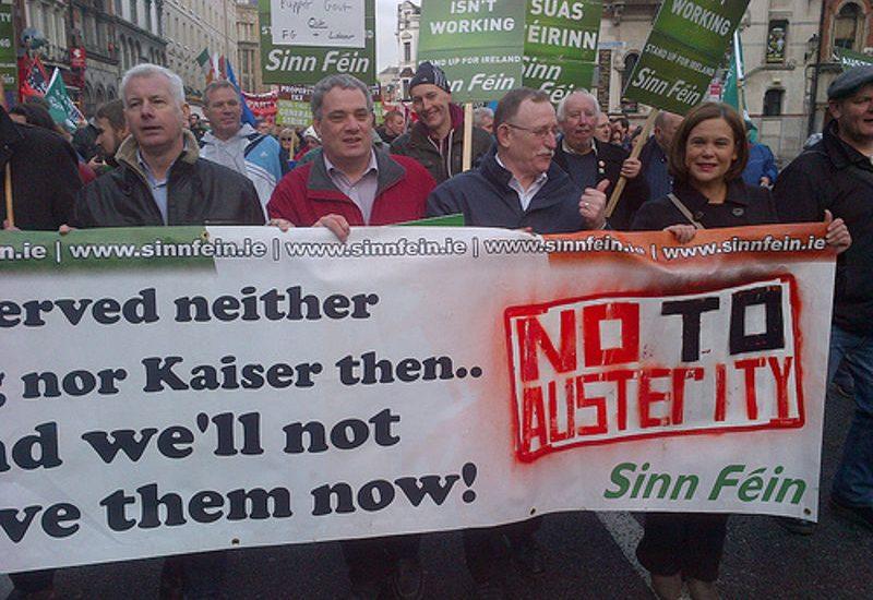 Protest gegen Sozialabbau in Irland