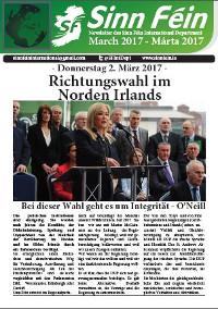 Newsletter Sinn Féin, März 2017