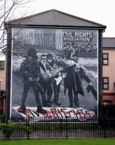 Bloody Sunday - Wandmalerei in Derry's Bogside