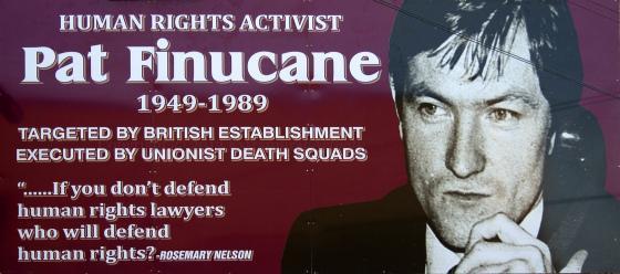 Mural zum Gedenken an Pat Finucane
